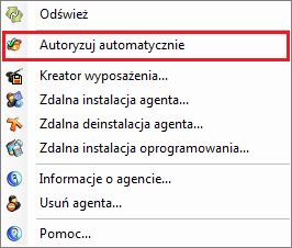 autoryzacja agenta