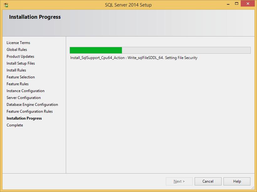 instalacja sql server 2014