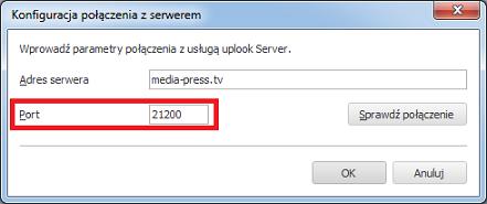 polaczenie z serwerem