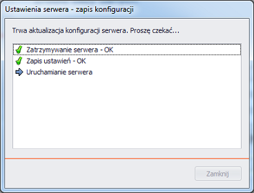 proces uruchomienia serwera