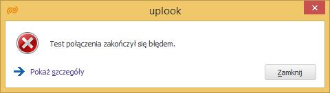 nieudane połączenie z serwerem pocztowym