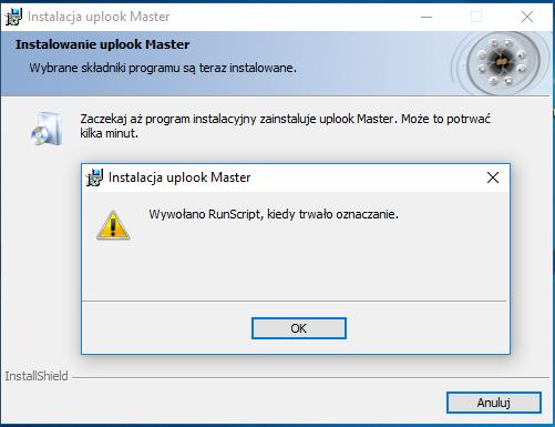 RunScript mark error