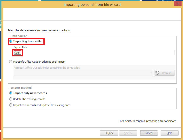 source file to statlook personnel import