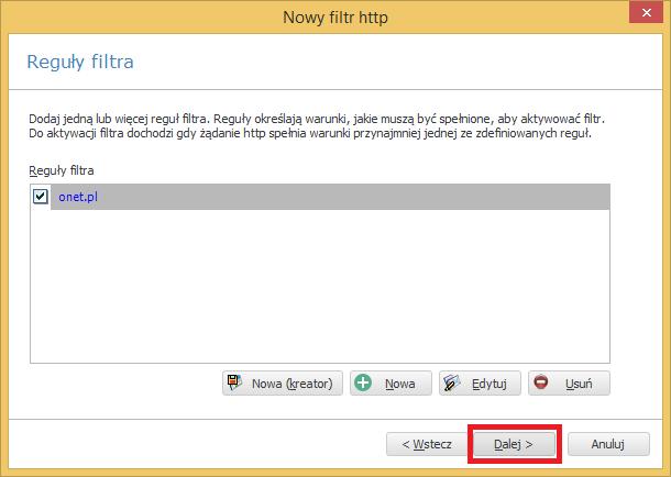 aktywacja filtra www