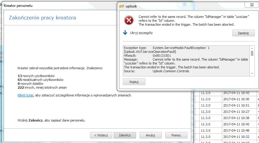 problem importu z active directory