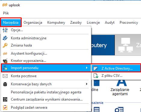 import personelu z active directory