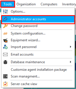 administrator accounts