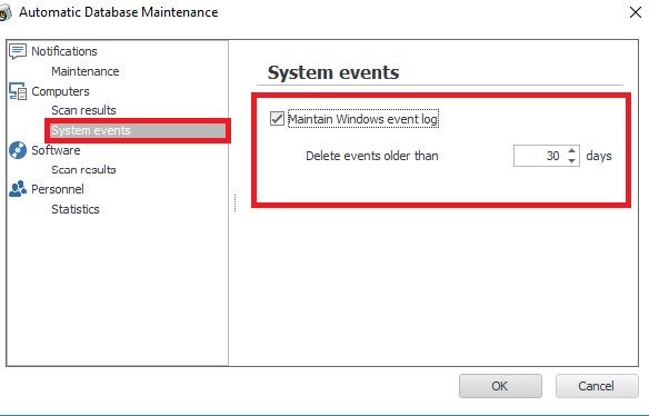 deleting events automatically