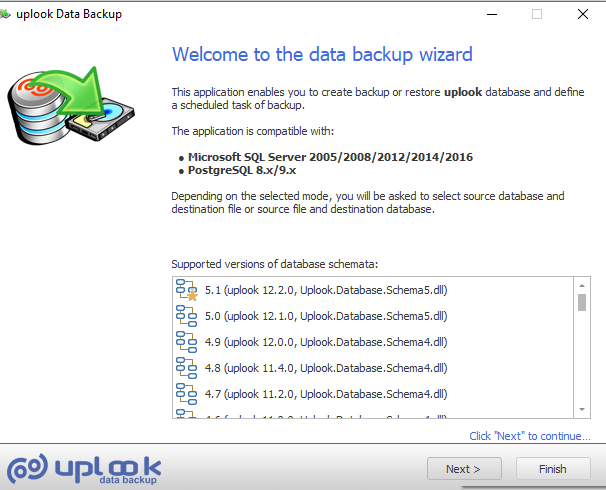 To keep your data safe if a danger of loss or damage appears, it is recommended to do a backup