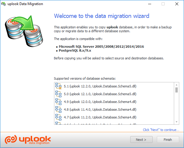 Data migration allows you to change database engine e.g. from MS SQL to PostgreSQL